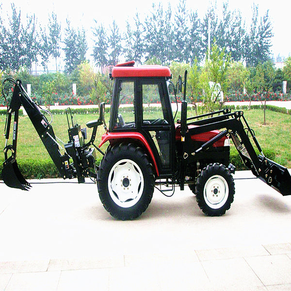 Professional!! 25hp 4-wheel drive mini farm tractors with front end loader and  backhoe