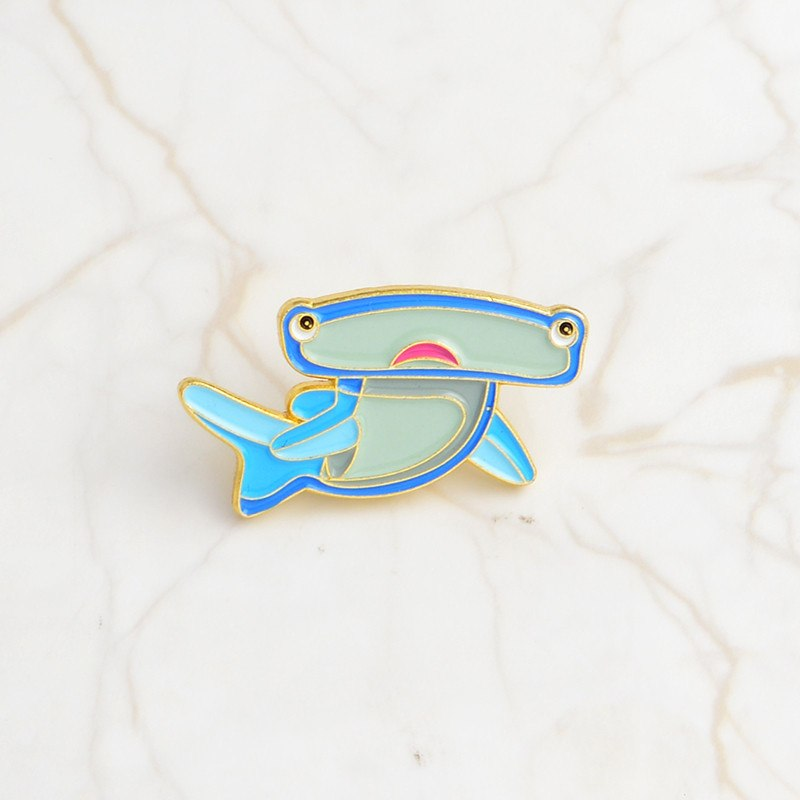 Brooches Jewelry Sets & More Hot Sale Sea Cuties Pin Whale Ocean Shark Narwhal Octopus Puffer Fish Hard Enamel Pin Lapel Pin Brooches Badges Gift For Kids