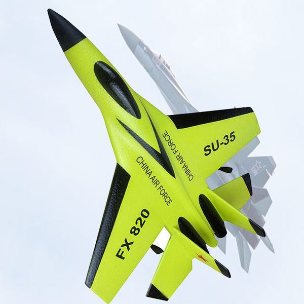 RC Plane Toys Glider Aircraft  EPP Foam Electric 2 CH  Remote Control SU-35 Tail Pusher Quadcopter