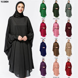Abaya Dress Dubai Muslim Prayer Clothing Highly Elastic Hijab Robes Arabian Women Islamic Clothing