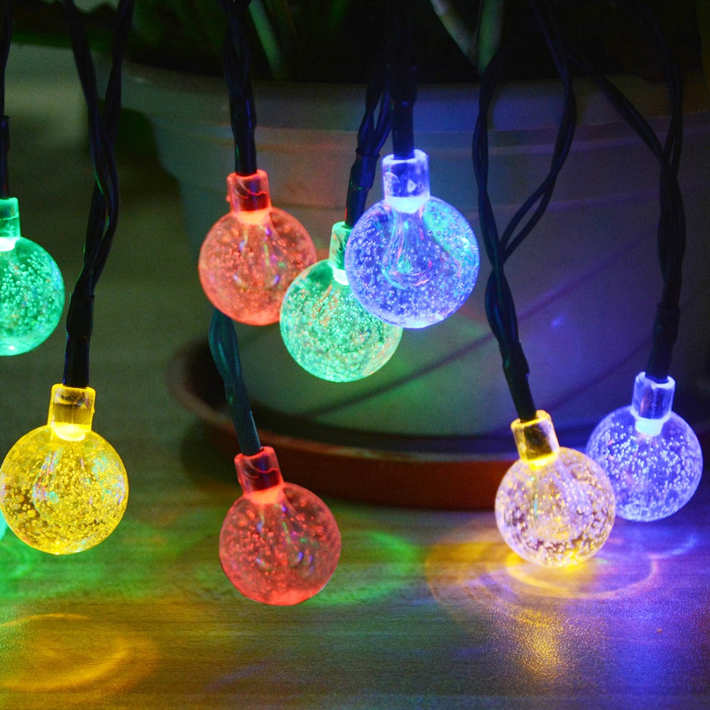 rechargeable solar fairy light patio garden outdoor solar led string landscape wedding party christmas tree decoration