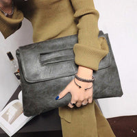 Retro Women Envelope Clutch Bag PU Leather Crossbody Messenger Bags for Women Trend Handbag Female Ladies Clutches Bag