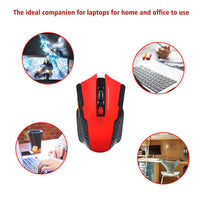 Wireless Gaming Mouse Robotsky USB 2.4GHz Optical Mouse for PC Laptop