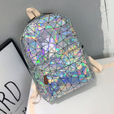 SUUTOOP Women 2019 Hologram Backpack PU Leather Laser Daypacks Teenager Girls And Boys School Bag Pack Male Holographic Mochila