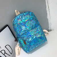 SUUTOOP Women 2019 Hologram Backpack PU Leather Laser Daypacks Teenager Girls And Boys School Bag Pack Male Holographic Mochila - inaaz.biz