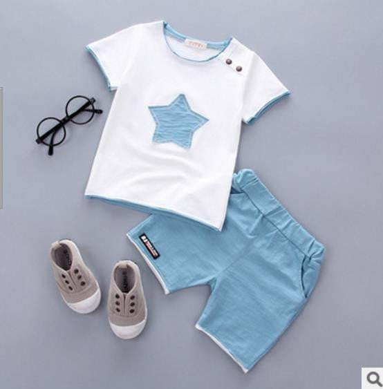 Smgslib Baby Boy Clothes summer children clothing Cartoon 2018 New Kids Cotton Cute Stars Sets baby boy outfit costumes baby - inaaz.biz