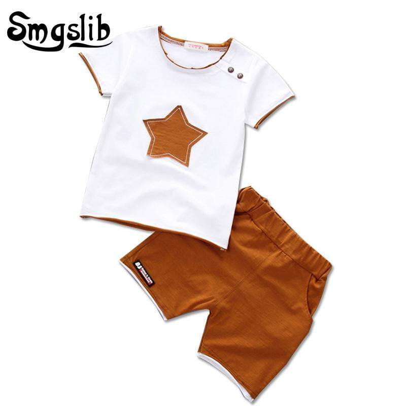 32deb12a08d4 ... Smgslib Baby Boy Clothes summer children clothing Cartoon 2018 New Kids  Cotton Cute Stars Sets baby ...