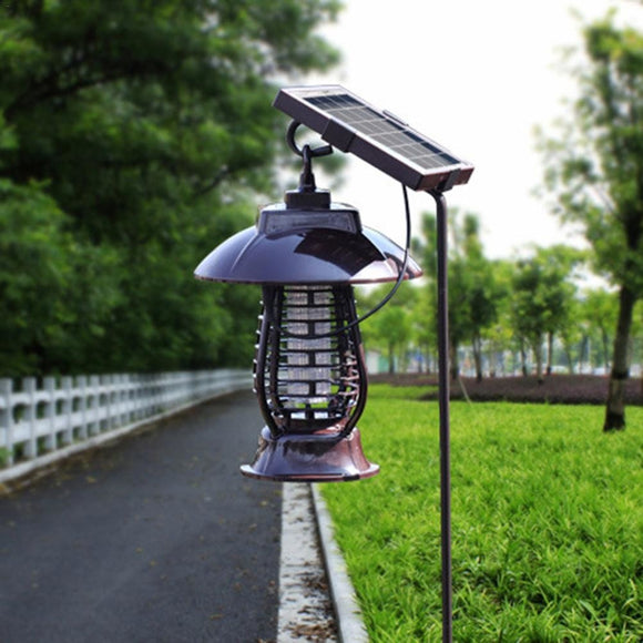 Solar Energy Mosquito Killer repeller Light Insect Killing Lamp For Gardens Outdoor Pest Reject