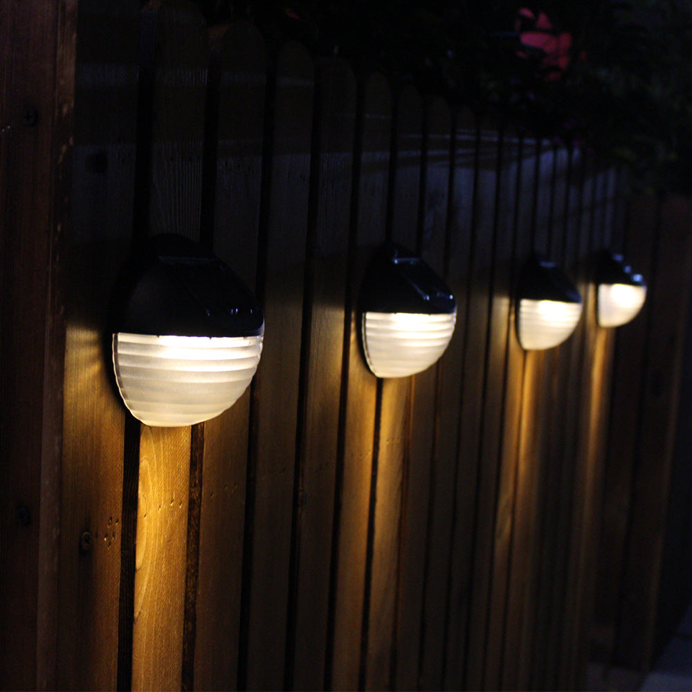 Led Lamps 6 Led Solar Light Outdoor Garden Solar Powered Wall Light Fence Energy-saving Waterproof Semicircle Wall Lamp Automatically