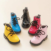 Spring Children Shoes Waterproof Kids Martin Rain Boots Sneakers Baby Boys Girls Rubber Snow Boots PU Leather Size 21-36 - inaaz.biz