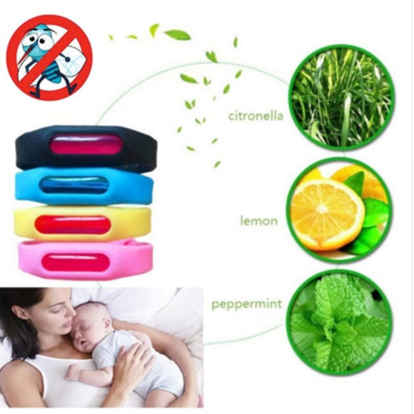 Summer outdoor mosquito repellent silicone bracelet for adult children  Anti- Mosquito Wrist Band
