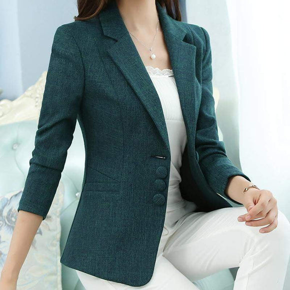The New high quality Autumn Spring Women's Blazer Elegant fashion Lady Blazers Coat Suits Female Big S-5XL code Jacket Suit T956