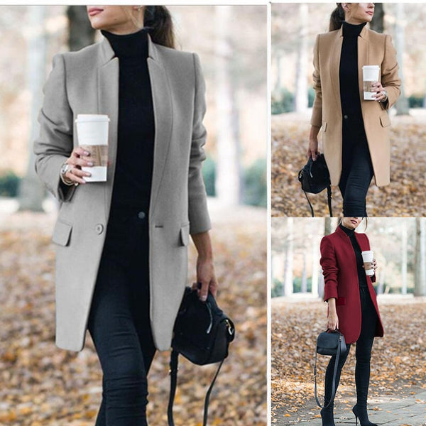 Women Winter Coat, Tom Hagen Jacket, Plus Size Long Wool Coat, Warm  Elegant Vintage Coat