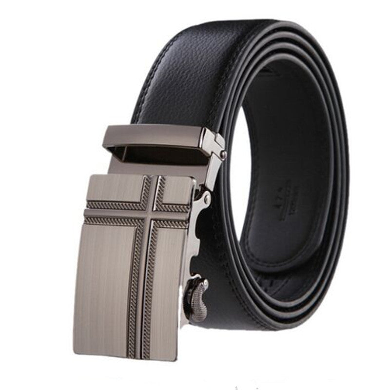 top brand blets for men automatic buckle male genuine leather strap