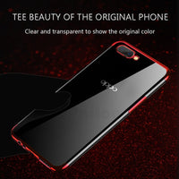 UPaitou Luxury Plating Case for OPPO A7 A7X AX7 AX5 A3 A3S A1 TPU Soft Silicone Clear Frame Transparent Back Cover Case - inaaz.biz