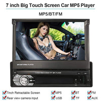 Car Retractable MP5 Player Car Stereo Radio 7 inch with Bluetooth FM USB SD - inaaz.biz