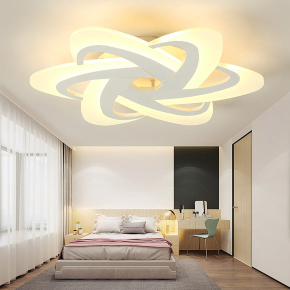 VeiHao Bedroom Light Study Room Led Chandelier lampara de techo led moderna Modern led Ceiling Chandelier Fixtures Free Shipping