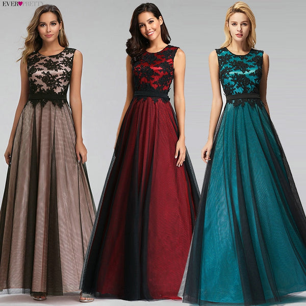 Women Evening Gown, Vestido de Festa Long Appliques Evening Party Dresses Robe - inaaz.biz