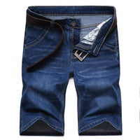 Vomint Men casual Short jeans Slim Knee Length Casual Business Shorts Jeans Stretch Cotton Fabric Hot Sale (No Belt) V7S1S006