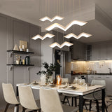 White Color Led Hanging Pendant Chandeliers For Living Dining Room Kitchen Modern Led Chandelier Fixture Free Shipping