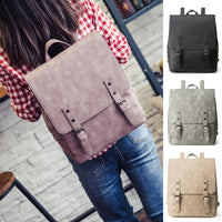 Women Backpack Large School Bags Teenage Girls Shoulder Bag PU Leather Rucksack - inaaz.biz