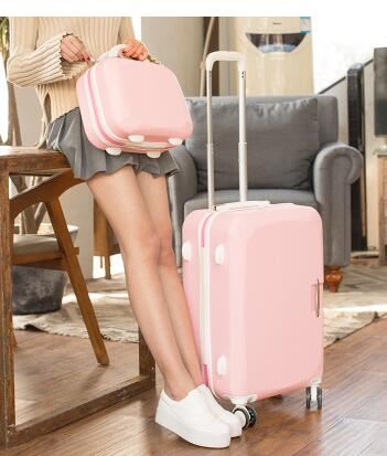 ... Women Travel Luggage Set Trolley suitcase Cosmetic Suitcase Rolling Bags  On Wheels Women Wheeled Rolling Luggage ... 4d5322a635