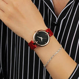 Women's Fashion Casual Luxury Watch High Quality Leather Women's Quartz Watch Waterproof Watch Bracelet Ms. sanda196