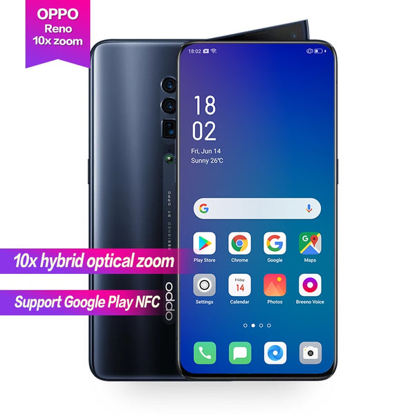 "Smartphone Oppo Reno 10X Optical Zoom Global 48MP 16MP 8MP Camera Octa Core 6.6"" VOOC Fast Charging"