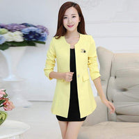 Women suit  female blazer formal suit women coat Long jacket 2019