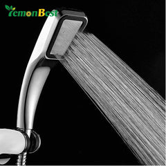 Lemonbest 300 Holes Pressurized Water Saving Shower Head ABS With Chrome Plated Bathroom Hand Shower Water Booster Showerhead