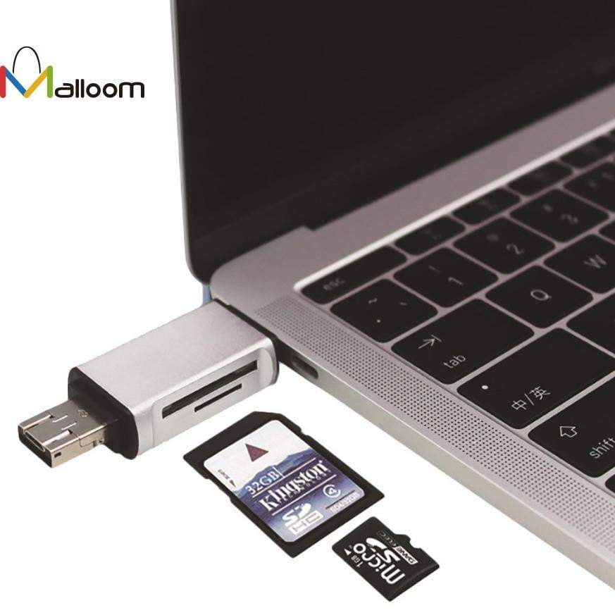 Multi Function Card Reader SD Card TF Triplet Smart Card Adapter For Mac PC Card