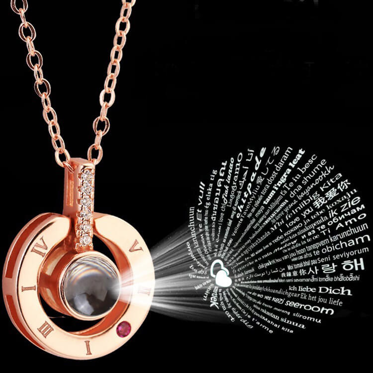 100 Languages To Say I Love You - Projection Pendant Necklace