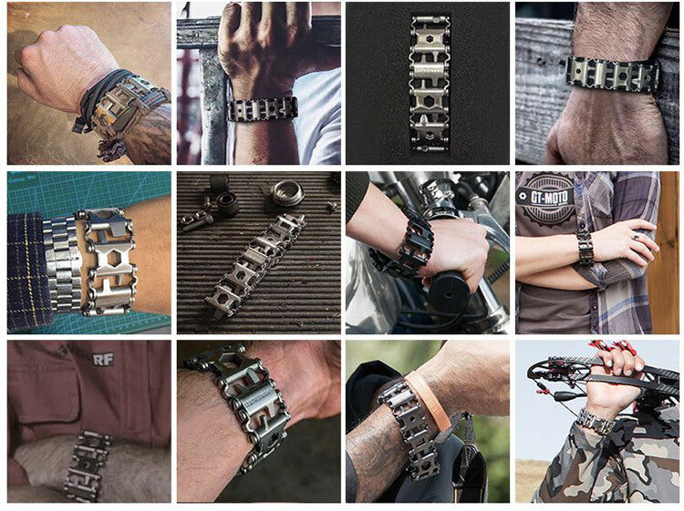 29-in-1 Titanium Steel Multi-Functional Tools Bracelet