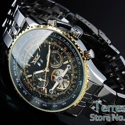 Mens Day/Month Tourbillon Mechanical Watches