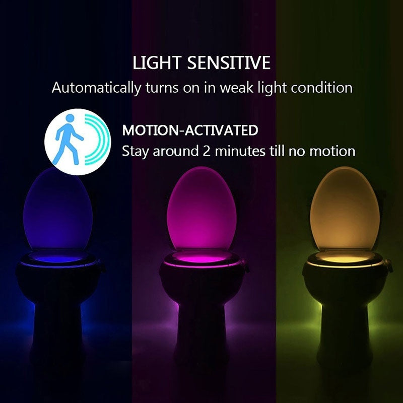 Toilet Motion Activated LED Night Lights