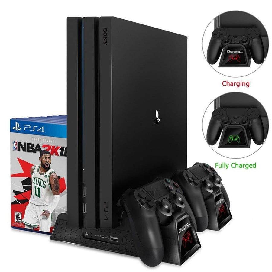 PS4/Slim/Pro Multi-functional Cooling Vertical Stand and Charger