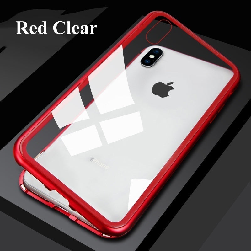Luxury Magnetic Adsorption Tempered Glass Phone Case