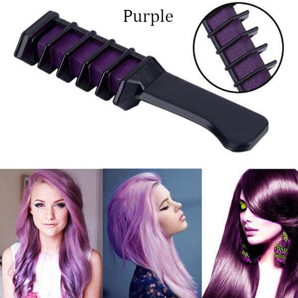 6 Colors Temporary Hair Dye Comb Set