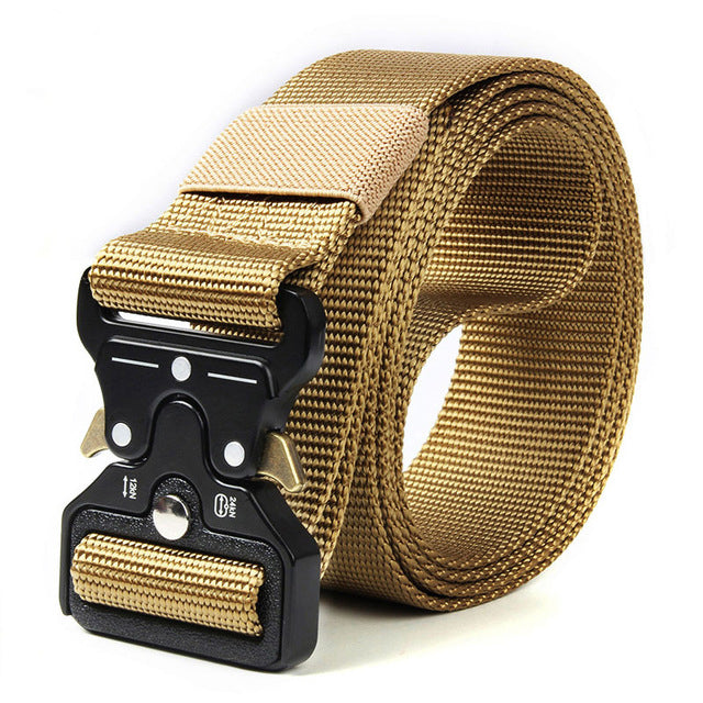 Mens Heavy-Duty Buckle Tactical Nylon Belt