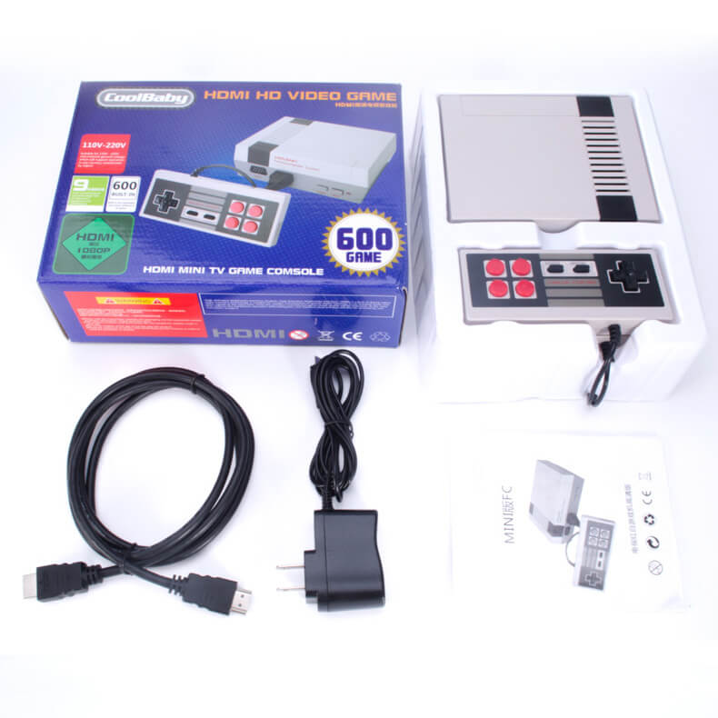 Classic NES Video Game with Built-in 600+ Games(HD version)