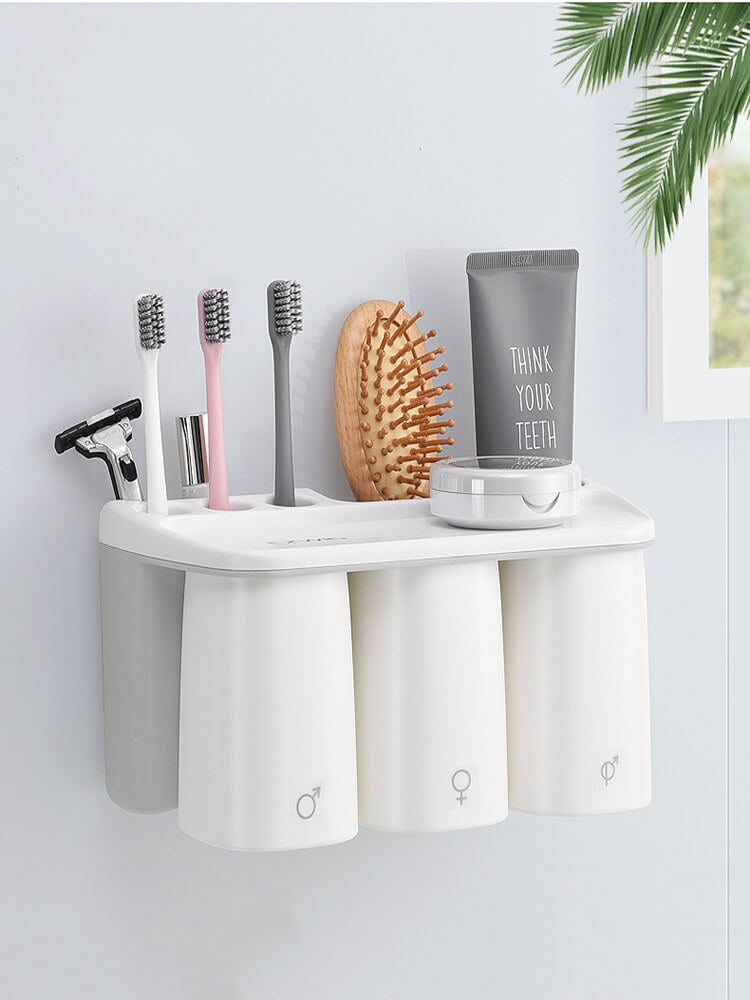 Automatic Adsorption Toothbrush Cup Set