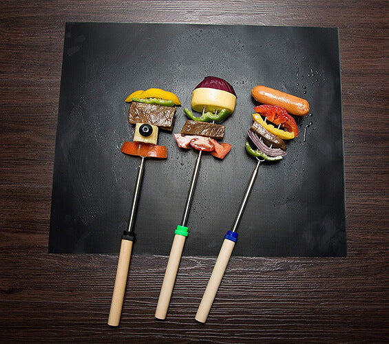 Non-stick BBQ Grill and Bake Mats (Set of 3 Pieces)