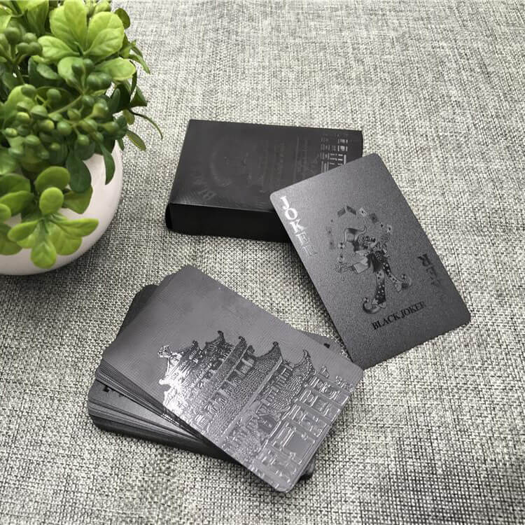 Waterproof Black Diamond Playing Card