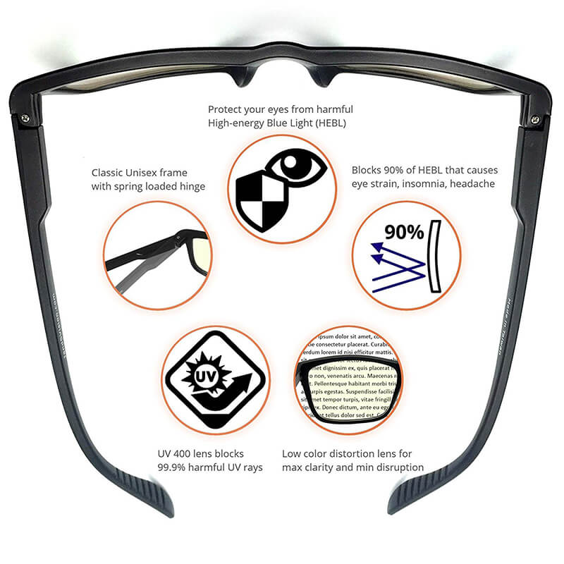 Blue Light Shield Computer Reading/Gaming Glasses