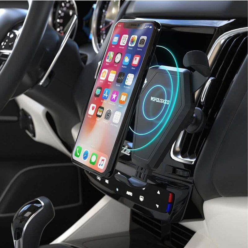 Car Fast Wireless Charger can Auto Gripped