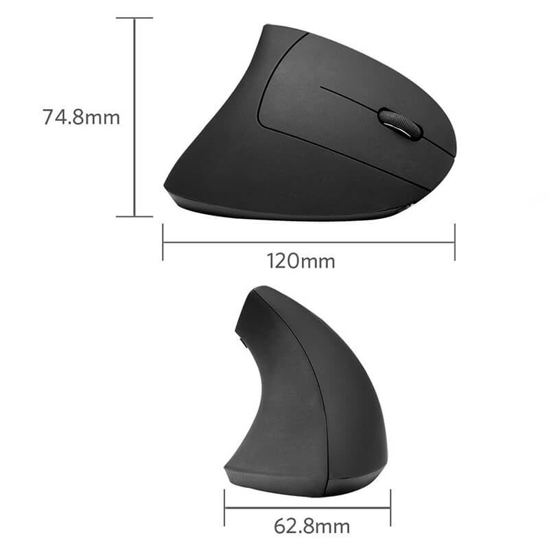 Wireless Vertical Ergonomic Optical Mouse