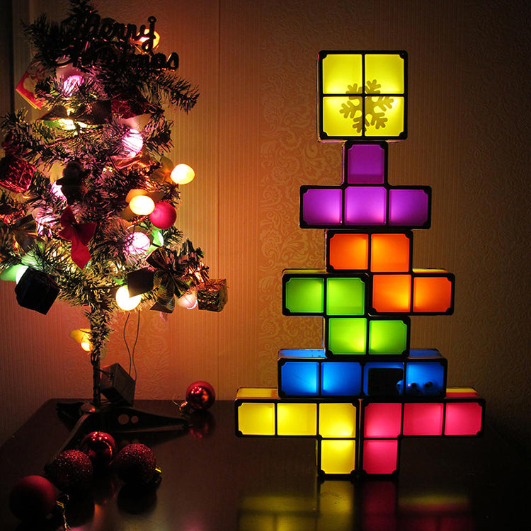 Interlocking Tetris Night Lamp