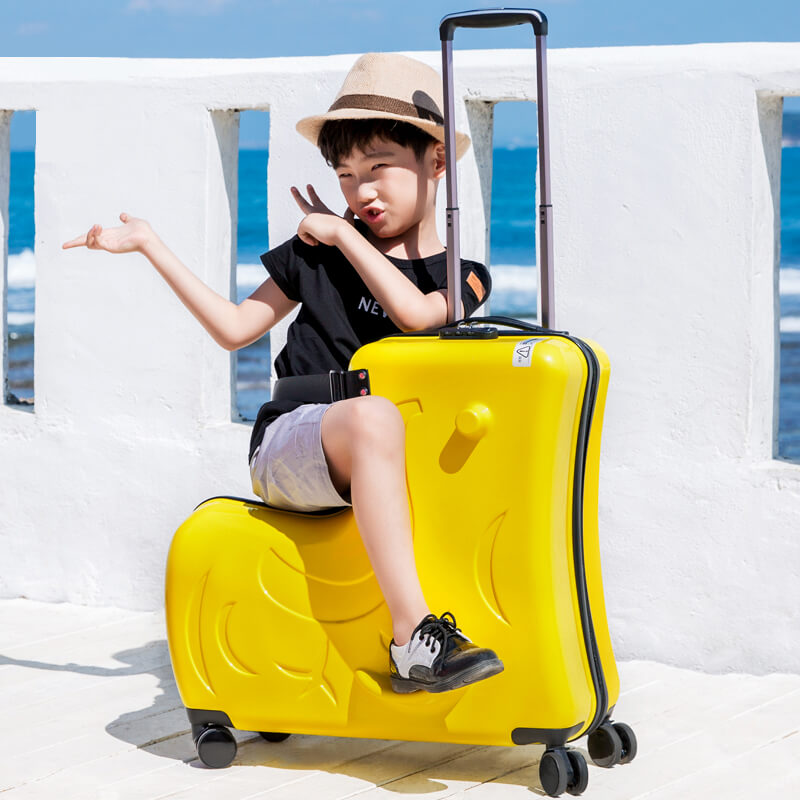 Kids Riding On Suitcase Children's luggage carrier