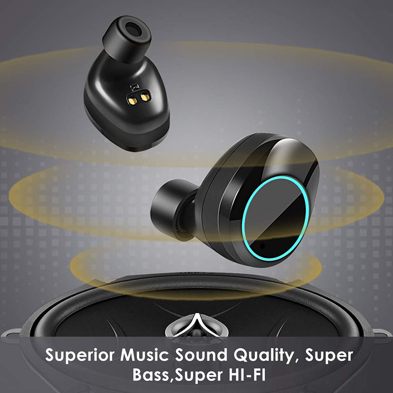 Large Capacity Waterproof Wireless Earbuds