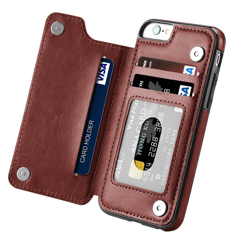 new style dd96d c577d Luxury Leather Wallet Cellphone Case – Trendowner